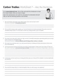 Worksheet 7 – Alec the Electrician - Savewater.com.au