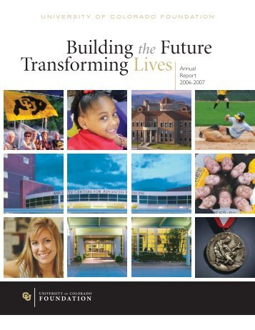Building the Future Transforming Lives Annual - University of ...