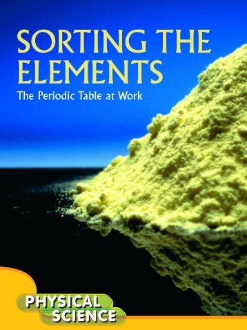 Sorting the elements - Rourke Publishing eBook Delivery System