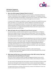 CMI Member Engagement Frequently Asked Questions 1. Why is the ...