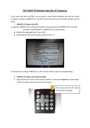 DW-VMAX IR Remote Controller Instruction Frequecncy.pdf