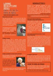 Lorne Sculpture 2011 Newsletter 3 - carmel wallace