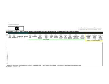schedule t-100 us air carrier traffic and capacity data by ... - BTS