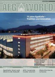 75 Jahre Egokiefer -; Tradition und Innovation