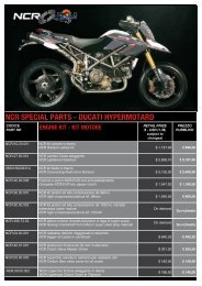 ncr special parts - d ncr special parts - ducati hypermotard i ...