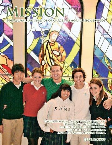 Magazine Spring 2009 - Garces Memorial High School