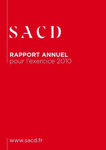 le rapport annuel 2010 - SACD