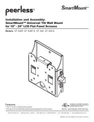 Installation and Assembly: SmartMount™ Universal Tilt Wall Mount ...