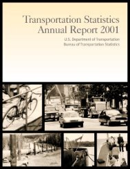 Transportation Statistics Annual Report 2001 Bureau of ... - BTS