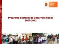 Programa Sectorial de Desarrollo Social 2007 – 2012
