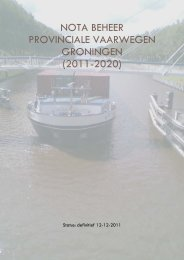 Nota Beheer Provinciale vaarwegen Groningen 2011-2020