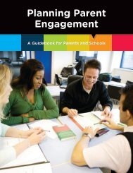 Planning Parent Engagement … A Guidebook for Parents and Schools