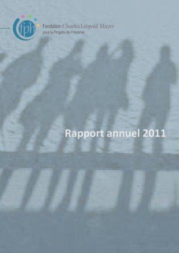Rapport annuel 2011 - Institut de recherche et débat sur la ...