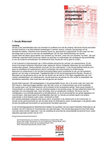 Watertoerisme uitvoerings programma - 03/10 - watererfgoed.nl
