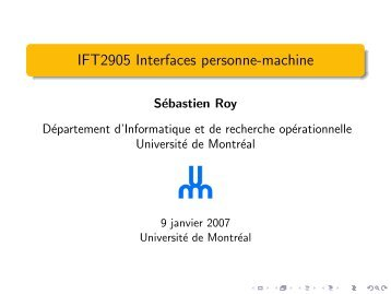 IFT2905 Interfaces personne-machine - igt.net