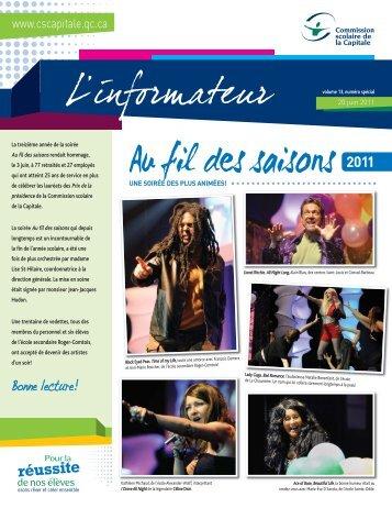 Volume 13, numéro spécial Au fil des saisons - Commission scolaire ...