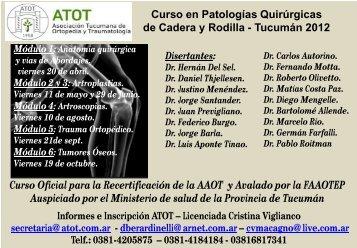 Curso en Patologías Quirúrgicas de Cadera y Rodilla - Asociación ...