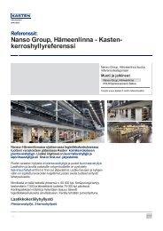 Nanso Group, Hämeenlinna - Kasten