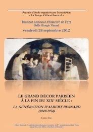 LE GRAND DÉCOR PARISIEN À LA FIN DU XIXe SIÈCLE :