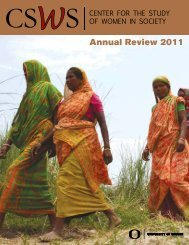 2011 CSWS Annual Review - Center for the Study of Women in ...
