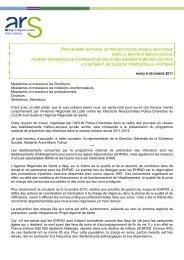 programme national de prévention du risque infectieux dans le ...