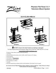 Phantom Flat Panel 3 in 1 Television Mount System