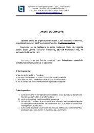 descarca - Spitalul Clinic de Urgenta pentru Copii Louis Turcanu ...