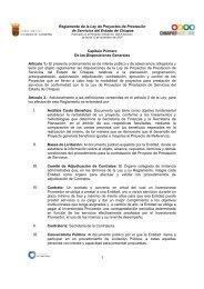 Reglamento de la Ley de Proyectos de Prestacion de Servicios