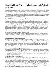 Das Merkblatt Nr. 14: Nebenkosten - Completa Immobilien