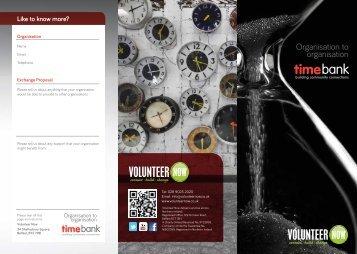 Organisation to Organisation information leaflet - Volunteer Now