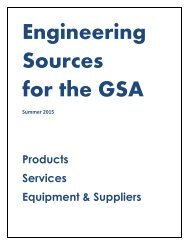 Engineering Sources for the GSA