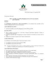 Ville de Saint-Georges, le 9 septembre 2008 Aux personnes ...