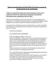 Rapport complémentaire du Parti libéral du Canada au ... - CoopZone