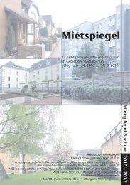 Mietspiegel Bochum 2010 - 2012 - Mieterverein