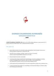 sveriges ekumeniska kvinnoråd verksamhetsberättelse 2009