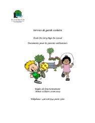 Service de garde scolaire - Commission scolaire de la Beauce ...