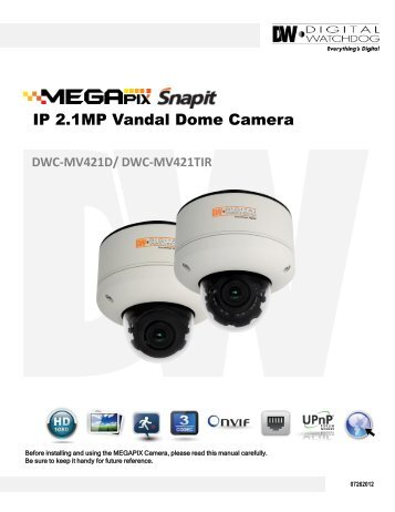 IP 2.1MP Vandal Dome Camera - publiclibrary.dwcc.tv