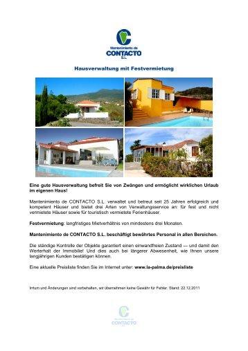 Hausverwaltung mit Festvermietung - La Palma