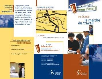 Intégrer le marché du travail - Commission scolaire de la Capitale