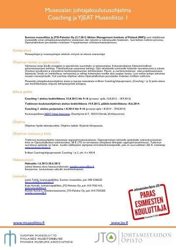 Esite_Museoalan_johtajakoulutusohjelma - Suomen museoliitto