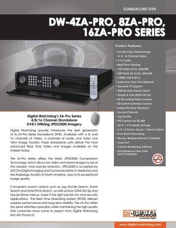 dw-4za-pro, 8za-pro, 16za-pro series dw-4za-pro ... - Digital Watchdog