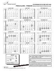 CALENDRIER SCOLAIRE 2007-2008 - Commission scolaire de ...