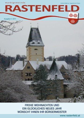Gemeindezeitung 2011/04 (4,72 MB) - Marktgemeinde Rastenfeld