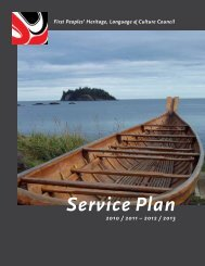 2010/11 - 2012/2013 Service Plan - First Peoples