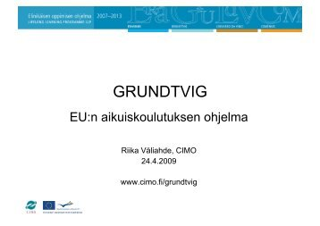 GRUNDTVIG - Suomen museoliitto