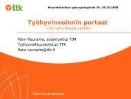 Työhyvinvoinnin portaat - Suomen museoliitto