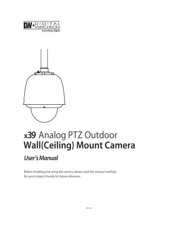 Wall(Ceiling) Mount Camera Analog PTZ Outdoor - publiclibrary ...