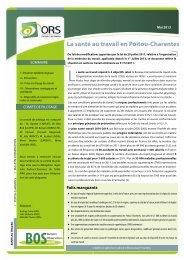 La santé au travail en Poitou-Charentes BOSBulletin - ARS Poitou ...