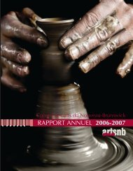 CANB Rapport annuel 2006-2007 - artsnb