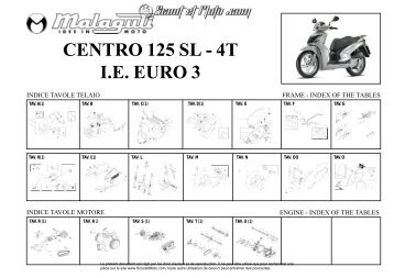 TAV. CENTRO 125 SL / 4T - IE Euro 3 - Scoot et Moto